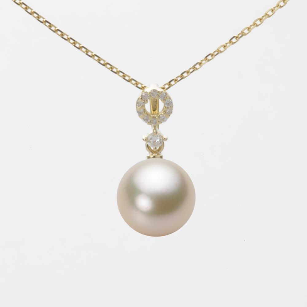 あこや真珠 パール ペンダント トップ 8.5mm アコヤ 真珠 ペンダント トップ K18 イエローゴールド レディース HA00085R13CG01474Y-T