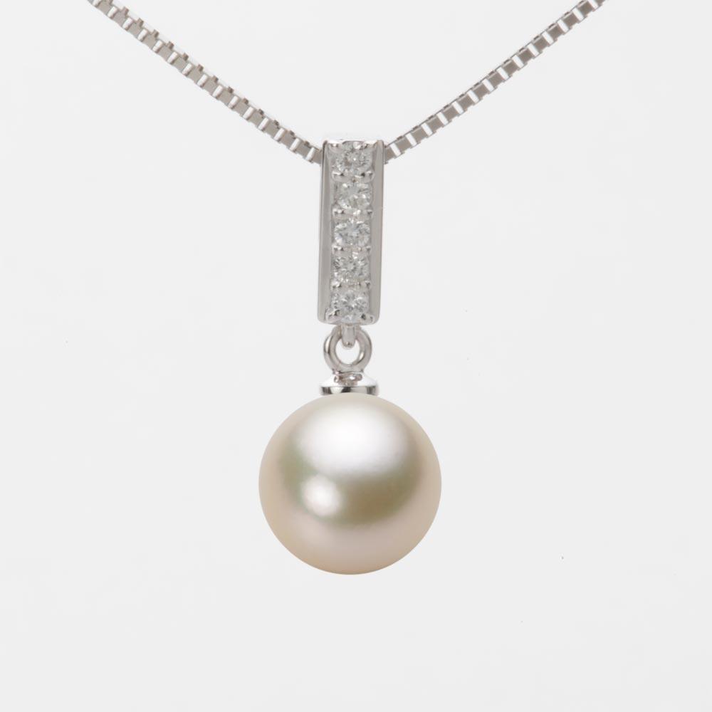 あこや真珠 パール ネックレス 8.5mm アコヤ 真珠 ペンダント K18WG ホワイトゴールド レディース HA00085R13CG0314W0