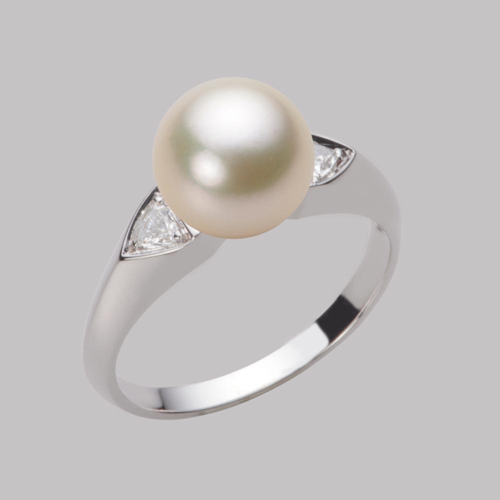あこや真珠 パール リング 8.5mm アコヤ 真珠 リング PT900 プラチナ レディース HA00085R13CG0D01P8