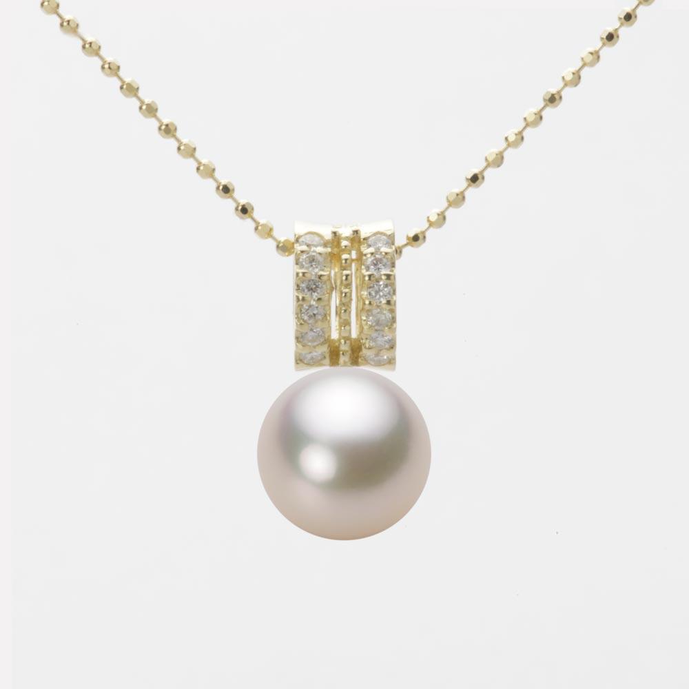 あこや真珠 パール ネックレス 8.5mm アコヤ 真珠 ペンダント K18 イエローゴールド レディース HA00085R13CW01278Y