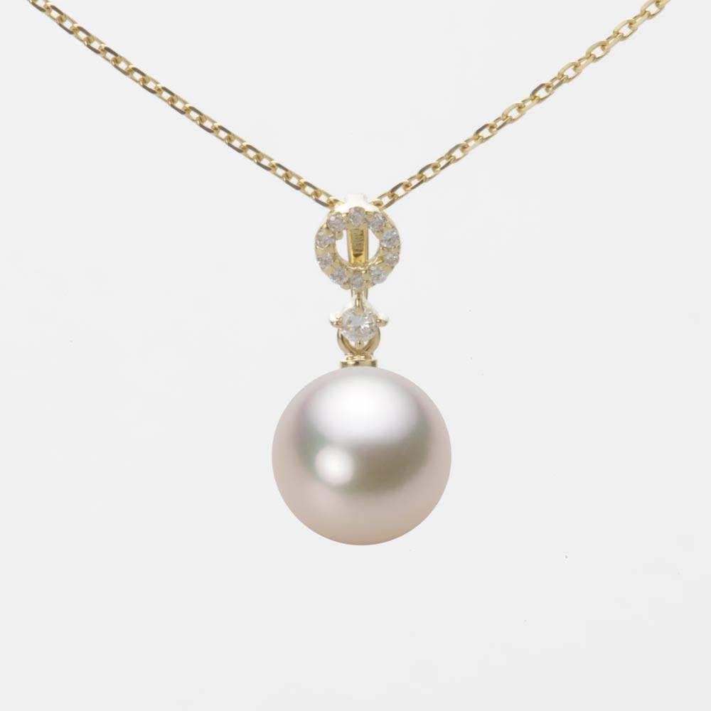 あこや真珠 パール ネックレス 8.5mm アコヤ 真珠 ペンダント K18 イエローゴールド レディース HA00085R13CW01474Y