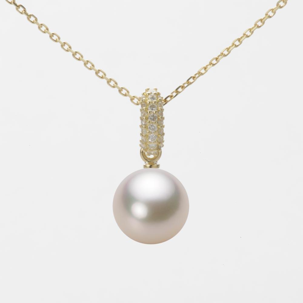 あこや真珠 パール ペンダント トップ 8.5mm アコヤ 真珠 ペンダント トップ K18 イエローゴールド レディース HA00085R13CW01489Y-T