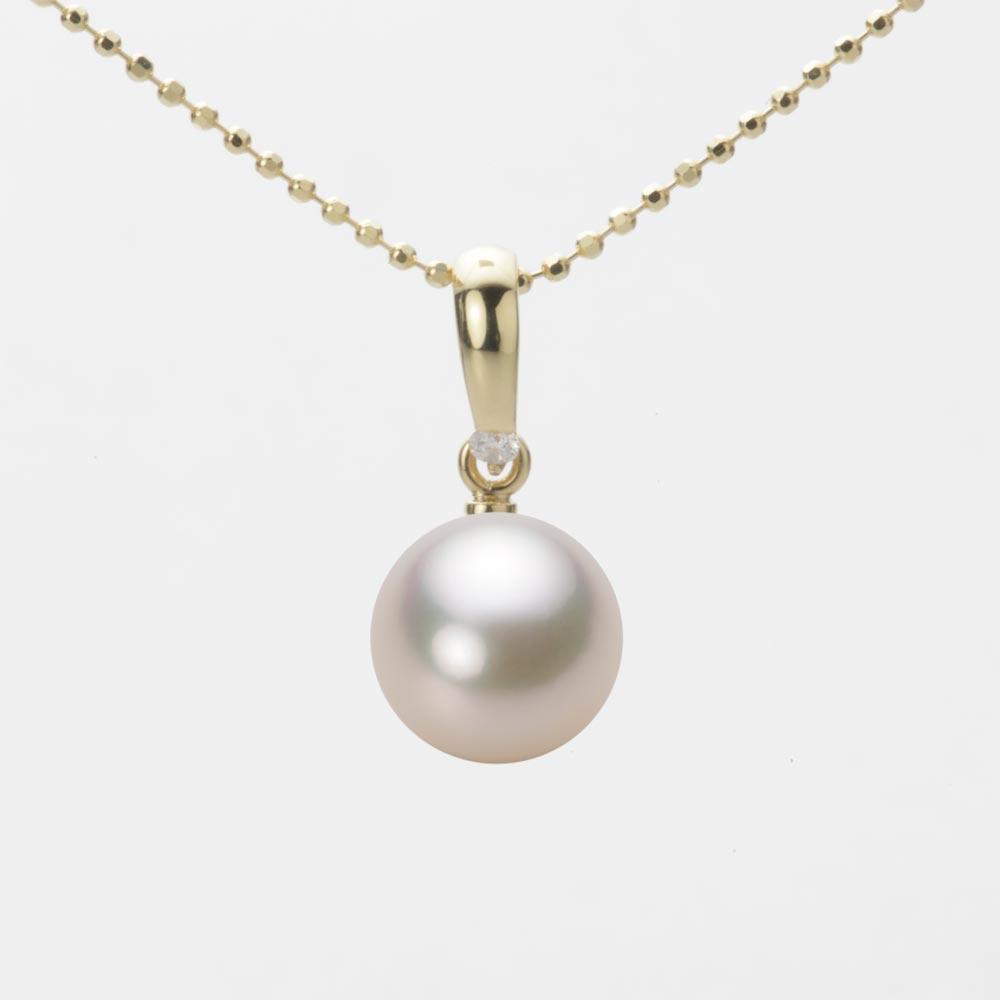あこや真珠 パール ペンダント トップ 8.5mm アコヤ 真珠 ペンダント トップ K18 イエローゴールド レディース HA00085R13CW01500Y-T