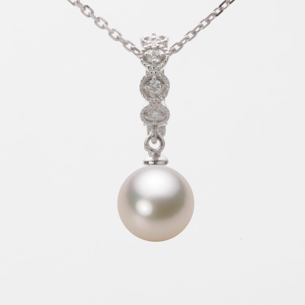 あこや真珠 パール ペンダント トップ 8.5mm アコヤ 真珠 ペンダント トップ K18WG ホワイトゴールド レディース HA00085R13CW0290W0-T