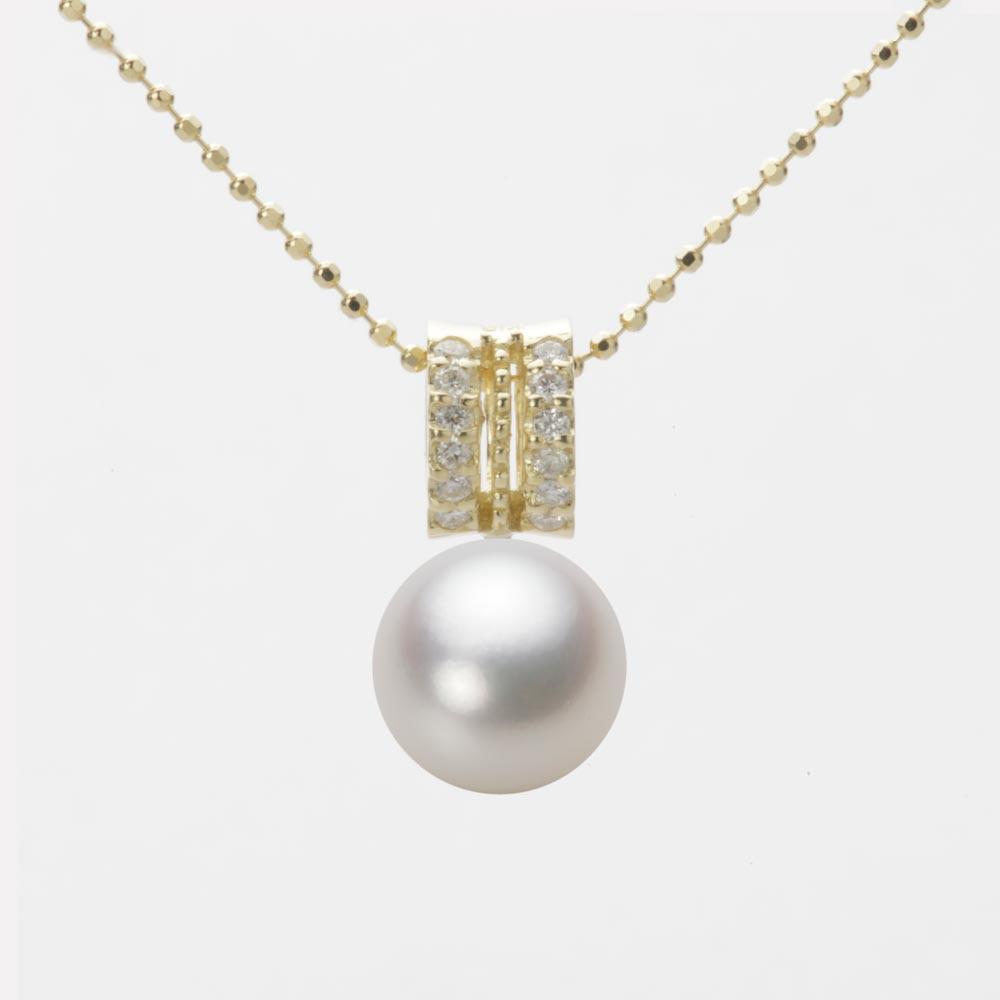 あこや真珠 パール ネックレス 8.5mm アコヤ 真珠 ペンダント K18 イエローゴールド レディース HA00085R13NW01278Y