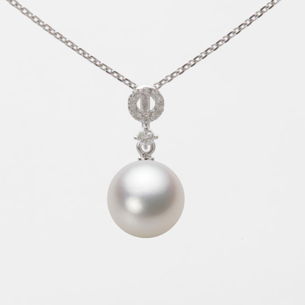 あこや真珠 パール ネックレス 8.5mm アコヤ 真珠 ペンダント K18WG ホワイトゴールド レディース HA00085R13NW01474W