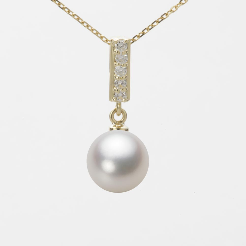 あこや真珠 パール ペンダント トップ 8.5mm アコヤ 真珠 ペンダント トップ K18 イエローゴールド レディース HA00085R13NW0314Y0-T