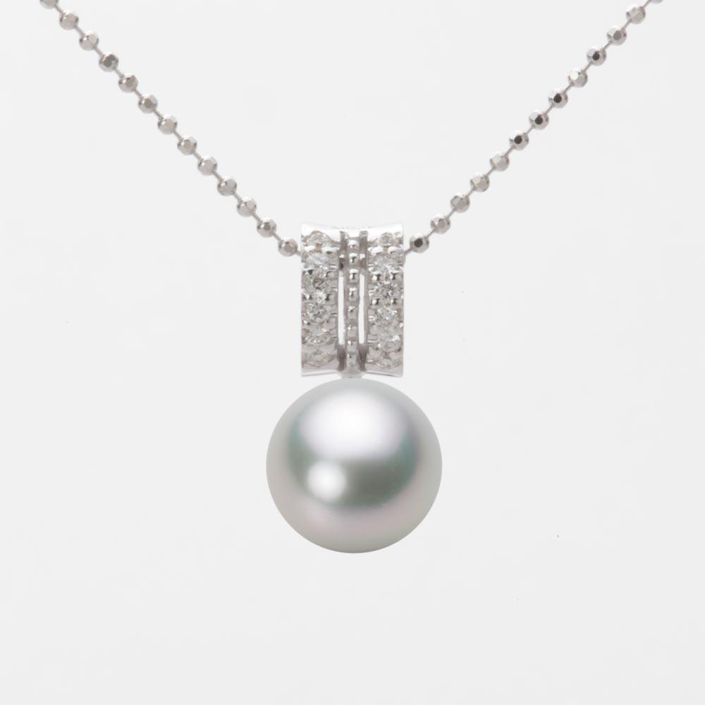 あこや真珠 パール ネックレス 8.5mm アコヤ 真珠 ペンダント K18WG ホワイトゴールド レディース HA00085R13SG01278W