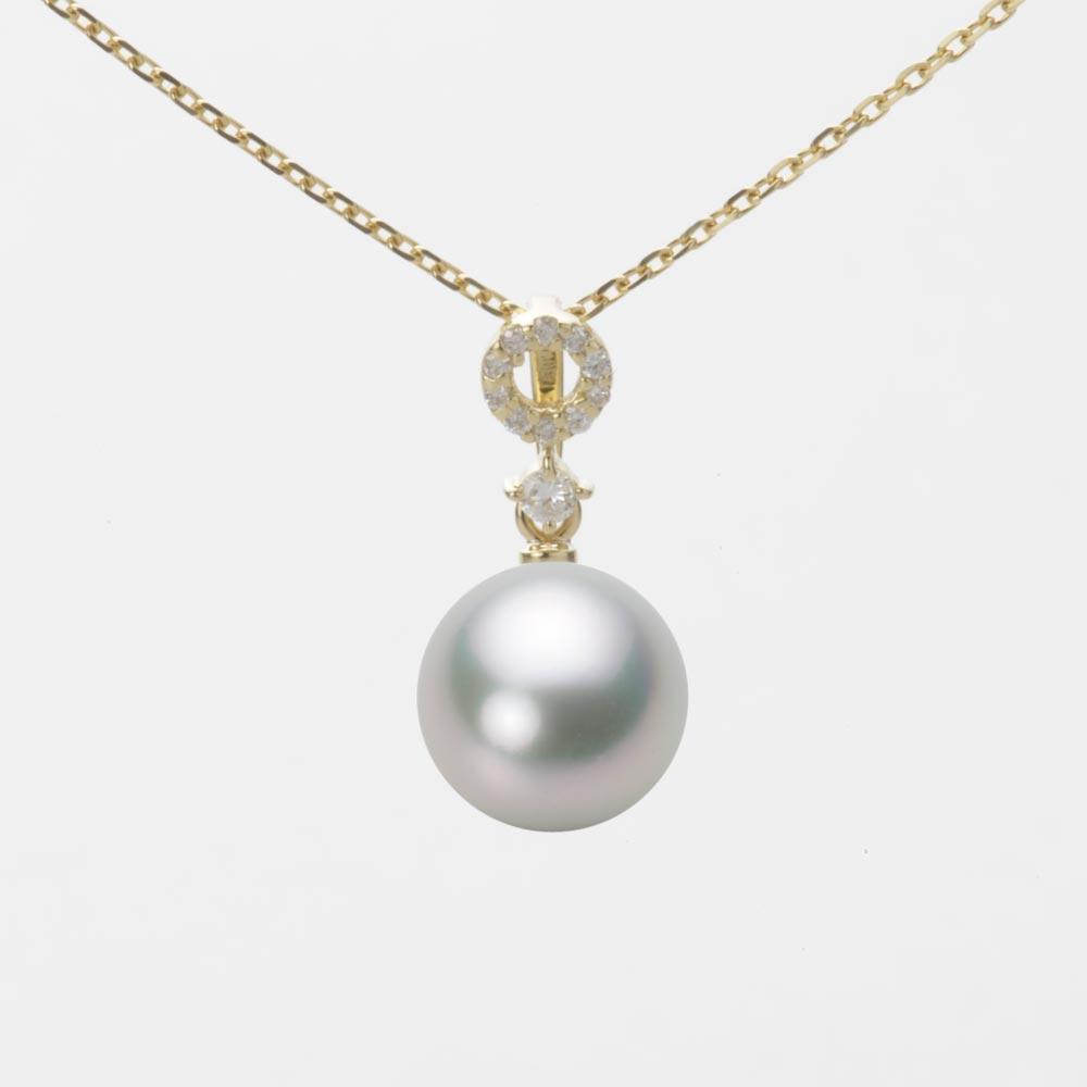 パール ネックレス K18 真珠 イエローゴールド 8.5mm アコヤ あこや真珠 レディース ペンダント HA00085R13SG01474Y