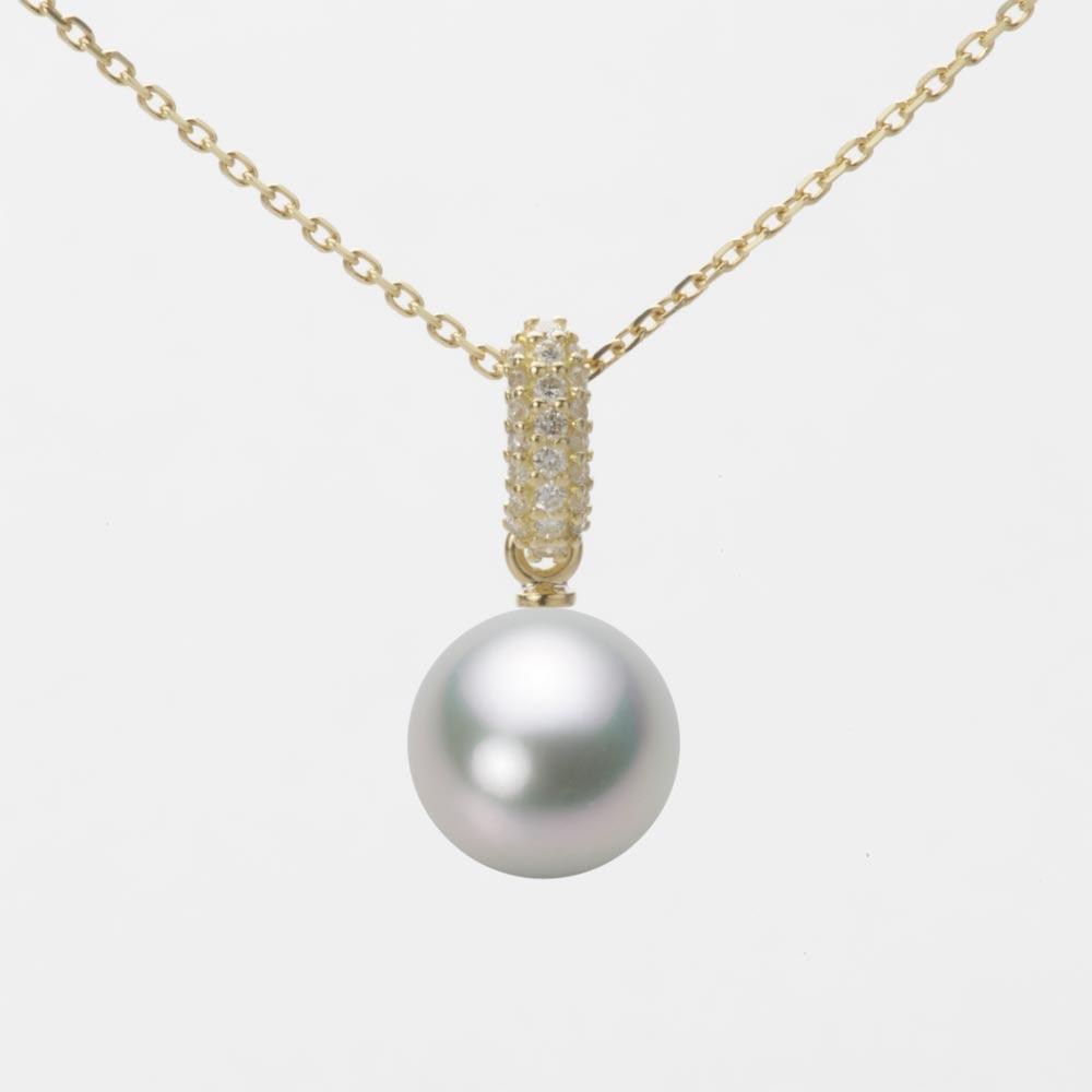 あこや真珠 パール ペンダント トップ 8.5mm アコヤ 真珠 ペンダント トップ K18 イエローゴールド レディース HA00085R13SG01489Y-T