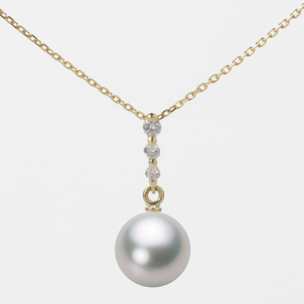 あこや真珠 パール ネックレス 8.5mm アコヤ 真珠 ペンダント K18 イエローゴールド レディース HA00085R13SG0797Y0
