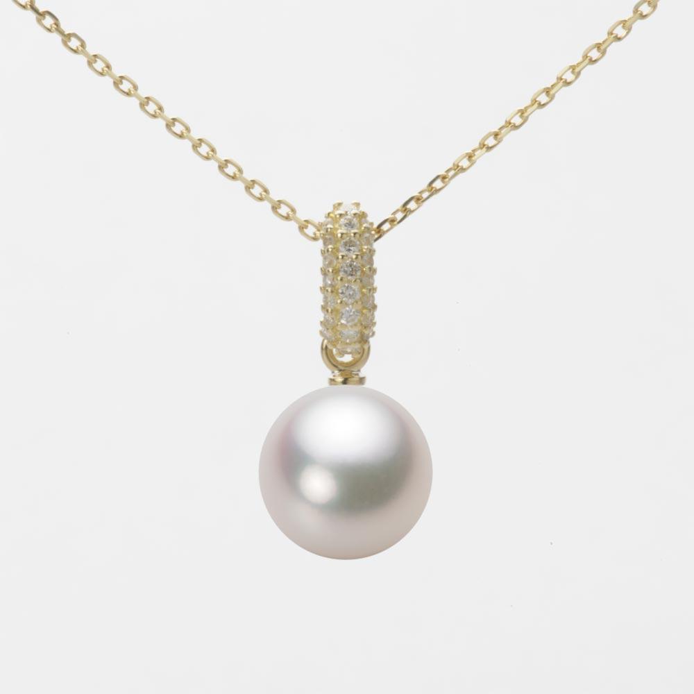あこや真珠 パール ネックレス 8.5mm アコヤ 真珠 ペンダント K18 イエローゴールド レディース HA00085R13WPG1489Y