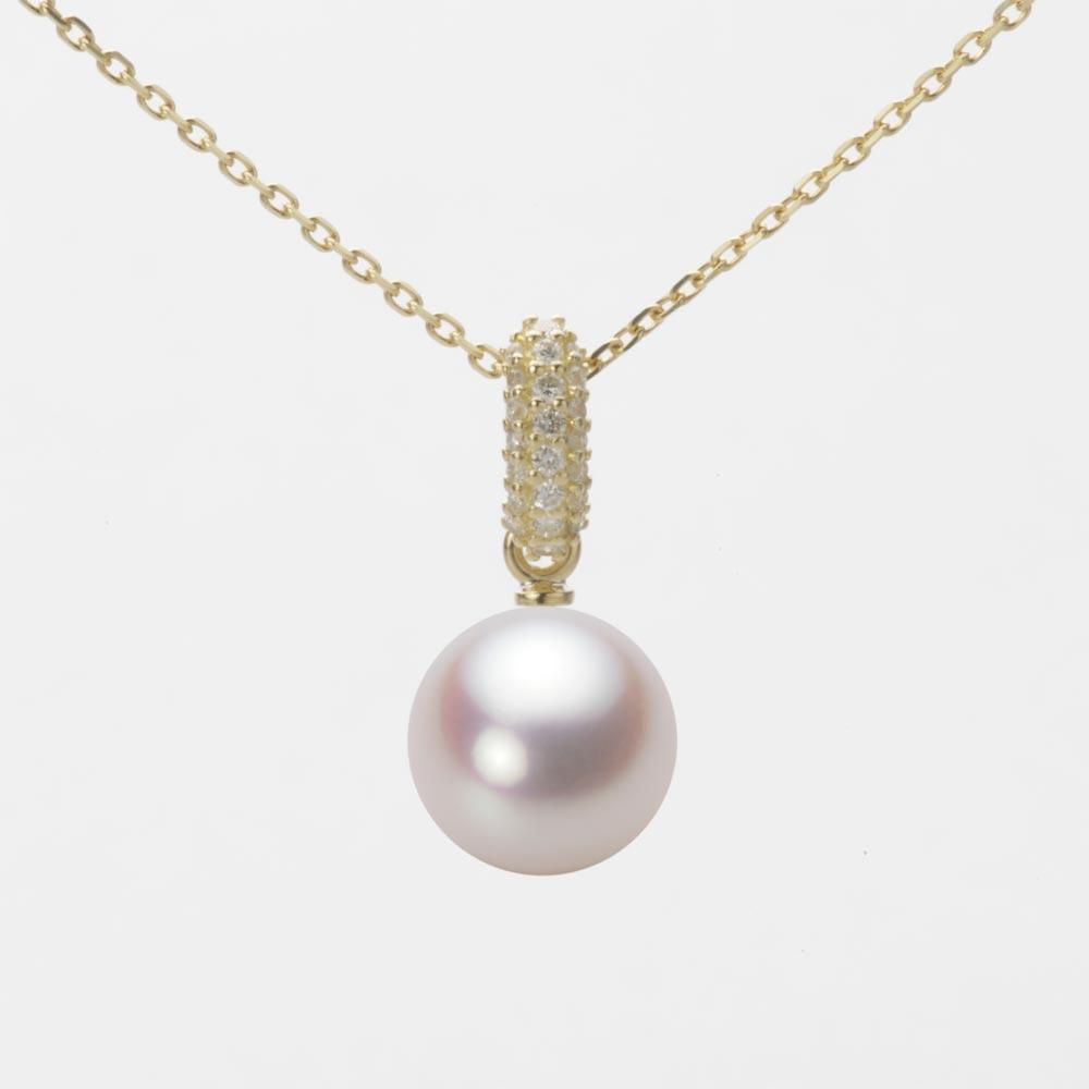 あこや真珠 パール ネックレス 8.5mm アコヤ 真珠 ペンダント K18 イエローゴールド レディース HA00085R13WPN1489Y