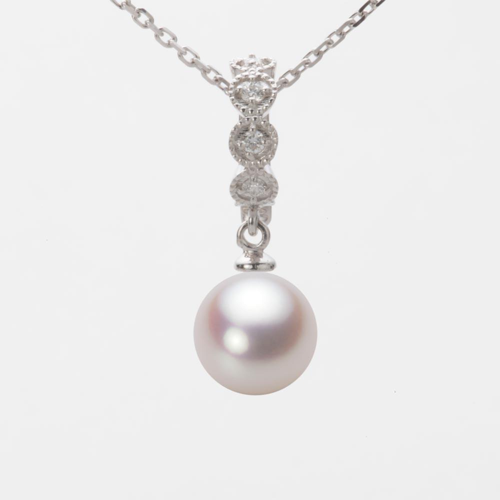 あこや真珠 パール ペンダント トップ 8.5mm アコヤ 真珠 ペンダント トップ K18WG ホワイトゴールド レディース HA00085R13WPN290W0-T