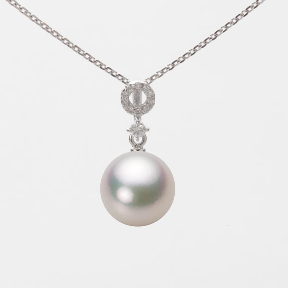 あこや真珠 パール ペンダント トップ 9.0mm アコヤ 真珠 ペンダント トップ K18WG ホワイトゴールド レディース HA00090R11CW01474W-T