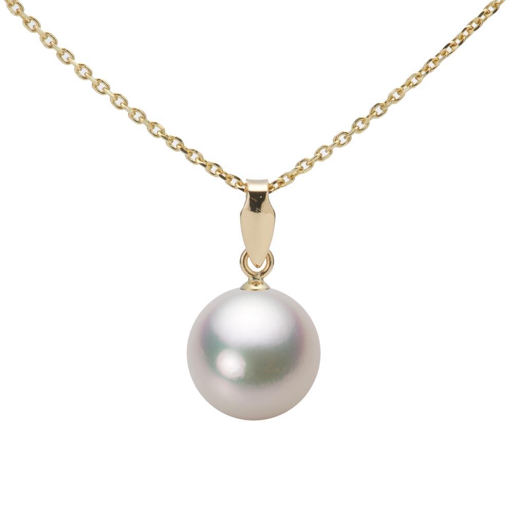 あこや真珠 パール ペンダント トップ 9.0mm アコヤ 真珠 ペンダント トップ K18 イエローゴールド レディース HA00090R11CW0U5Y00-T