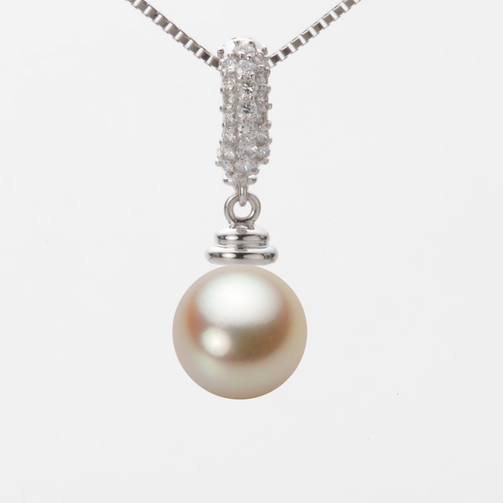 あこや真珠 パール ネックレス 9.0mm アコヤ 真珠 ペンダント K18WG ホワイトゴールド レディース HA00090R11NG0115W0