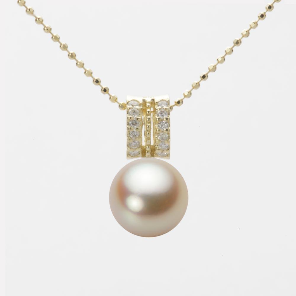 あこや真珠 パール ネックレス 9.0mm アコヤ 真珠 ペンダント K18 イエローゴールド レディース HA00090R11NG01278Y