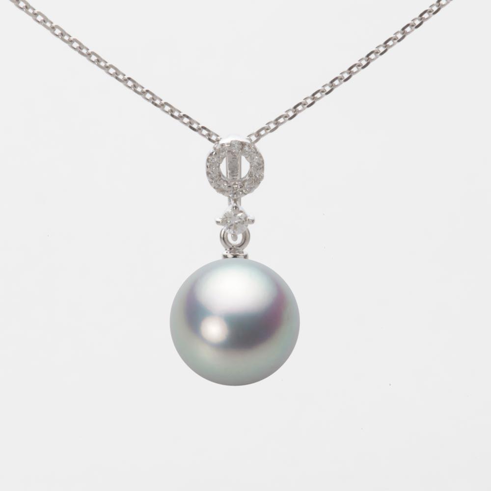 あこや真珠 パール ペンダント トップ 9.0mm アコヤ 真珠 ペンダント トップ K18WG ホワイトゴールド レディース HA00090R11SG01474W-T