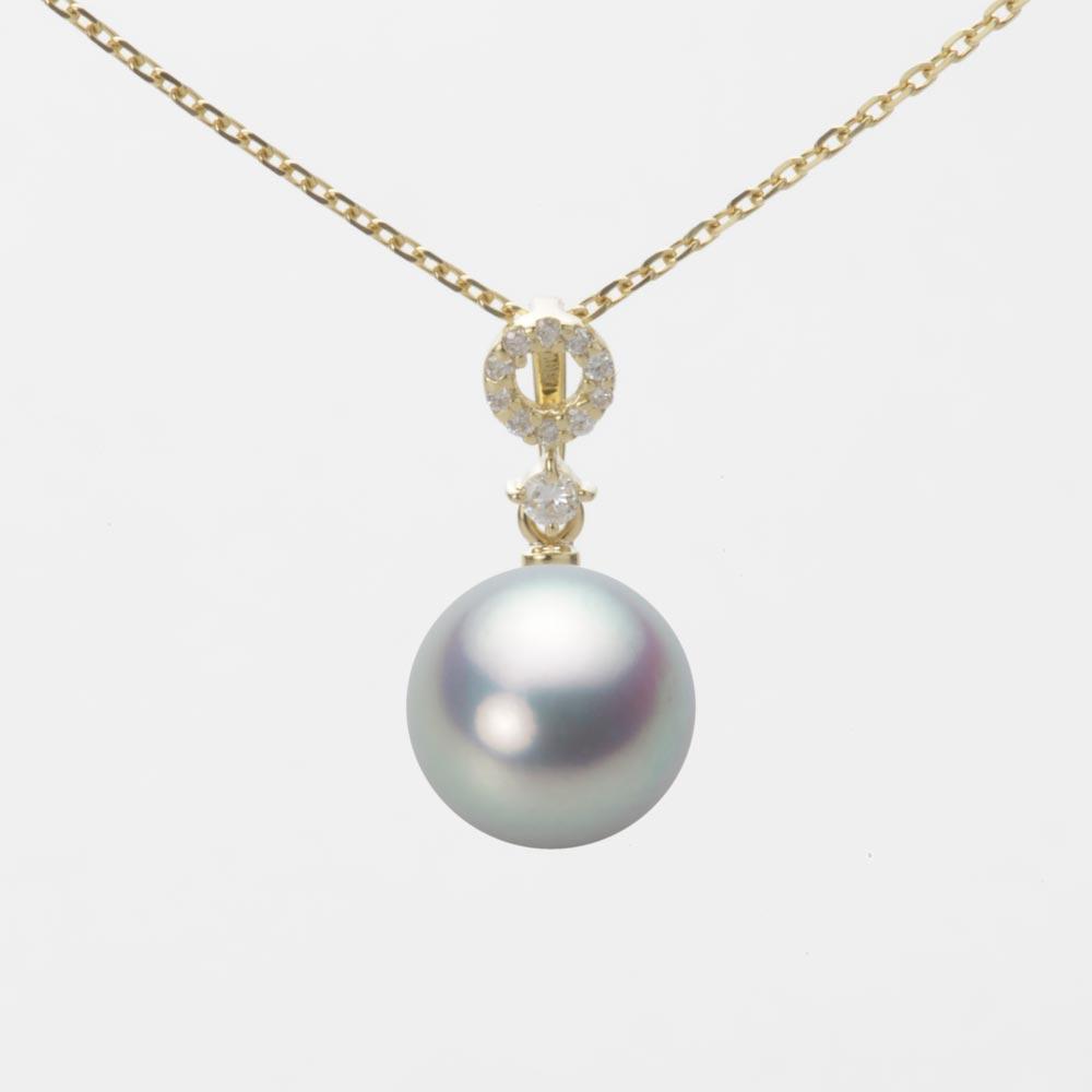 あこや真珠 パール ペンダント トップ 9.0mm アコヤ 真珠 ペンダント トップ K18 イエローゴールド レディース HA00090R11SG01474Y-T