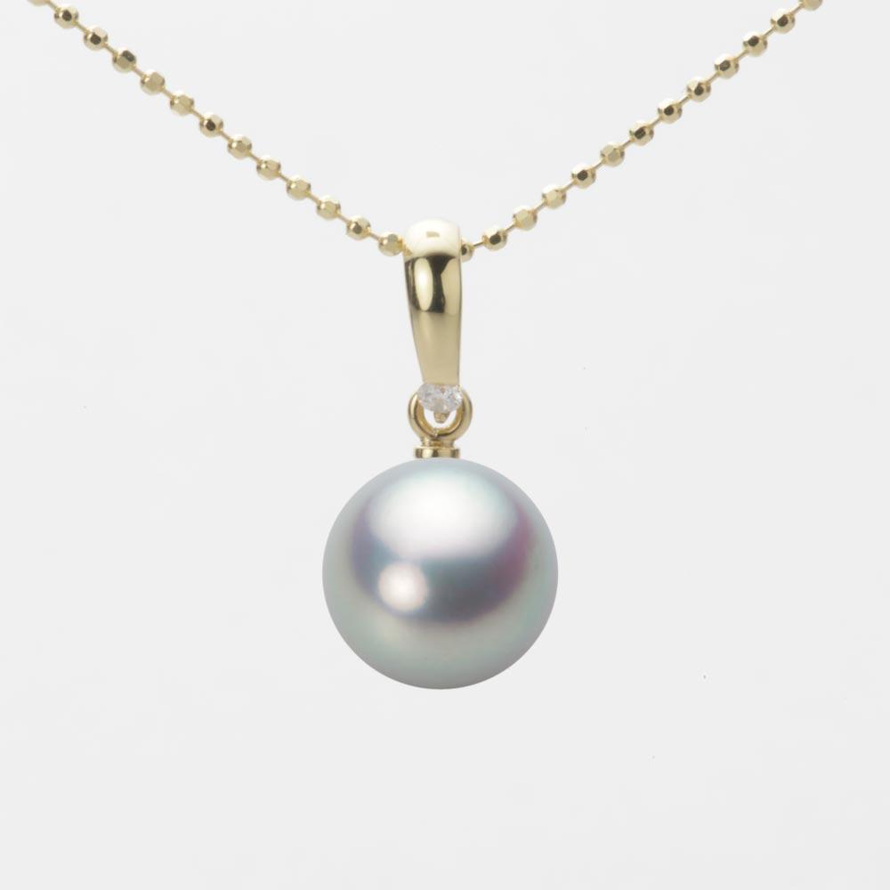 あこや真珠 パール ネックレス 9.0mm アコヤ 真珠 ペンダント K18 イエローゴールド レディース HA00090R11SG01500Y