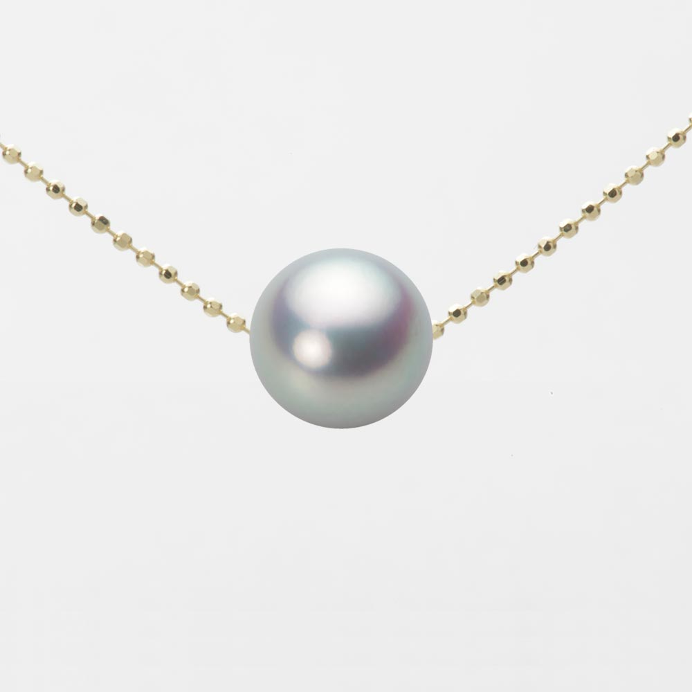 あこや真珠 パール ネックレス 9.0mm アコヤ 真珠 ペンダント K18 イエローゴールド レディース HA00090R11SG0B01YS
