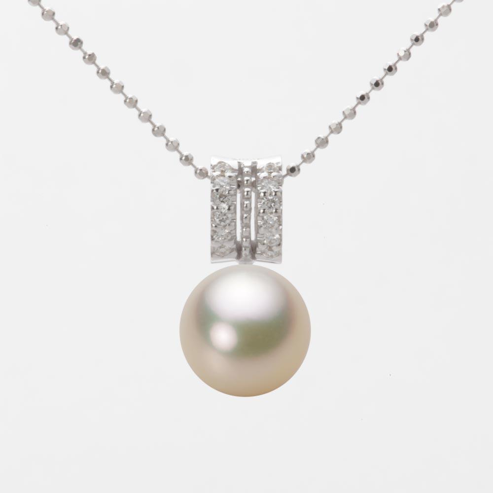 あこや真珠 パール ネックレス 9.0mm アコヤ 真珠 ペンダント K18WG ホワイトゴールド レディース HA00090R12CG01278W