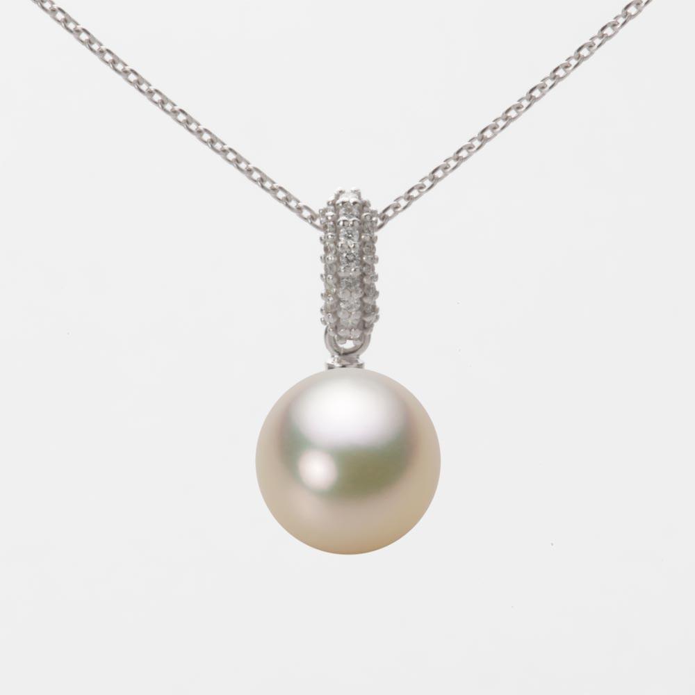 あこや真珠 パール ネックレス 9.0mm アコヤ 真珠 ペンダント K18WG ホワイトゴールド レディース HA00090R12CG01489W