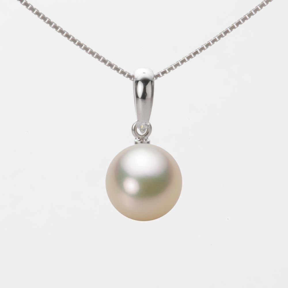 あこや真珠 パール ペンダント トップ 9.0mm アコヤ 真珠 ペンダント トップ K18WG ホワイトゴールド レディース HA00090R12CG01500W-T