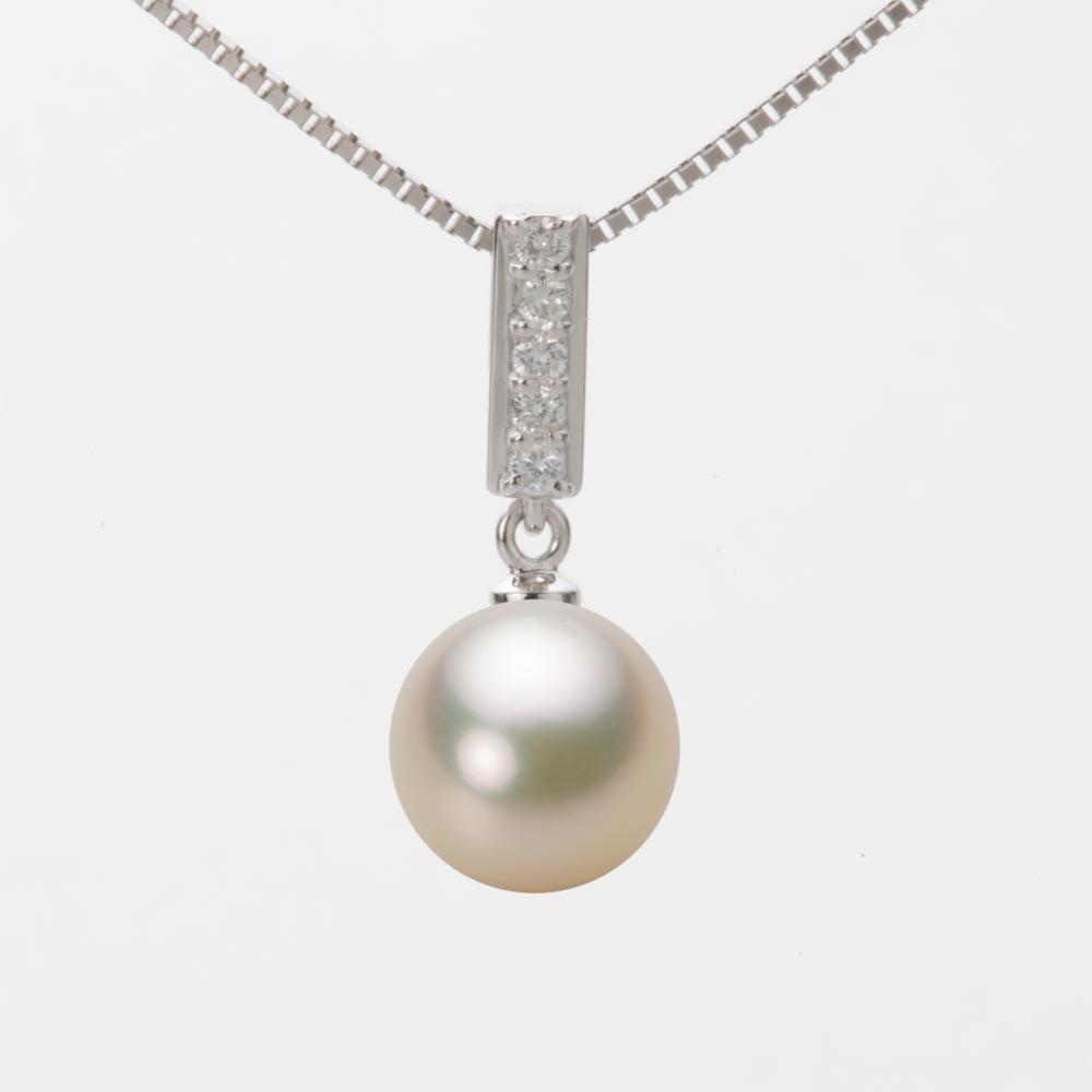 あこや真珠 パール ペンダント トップ 9.0mm アコヤ 真珠 ペンダント トップ K18WG ホワイトゴールド レディース HA00090R12CG0314W0-T