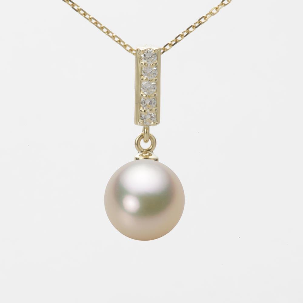 あこや真珠 パール ペンダント トップ 9.0mm アコヤ 真珠 ペンダント トップ K18 イエローゴールド レディース HA00090R12CG0314Y0-T