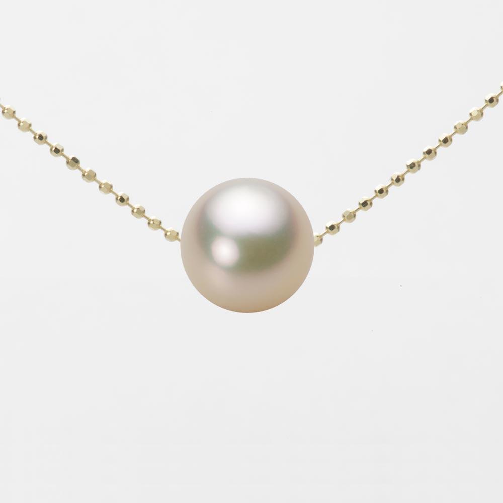 あこや真珠 パール ネックレス 9.0mm アコヤ 真珠 ペンダント K18 イエローゴールド レディース HA00090R12CG0B01YS