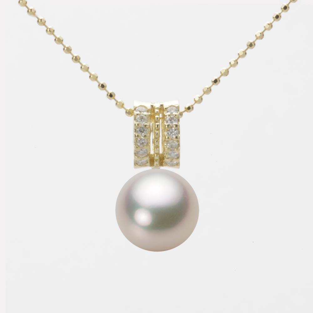 あこや真珠 パール ペンダント トップ 9.0mm アコヤ 真珠 ペンダント トップ K18 イエローゴールド レディース HA00090R12CW01278Y-T