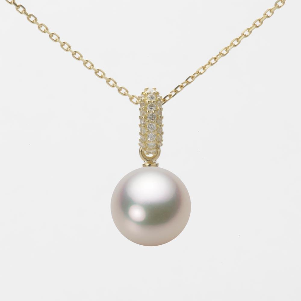 あこや真珠 パール ペンダント トップ 9.0mm アコヤ 真珠 ペンダント トップ K18 イエローゴールド レディース HA00090R12CW01489Y-T