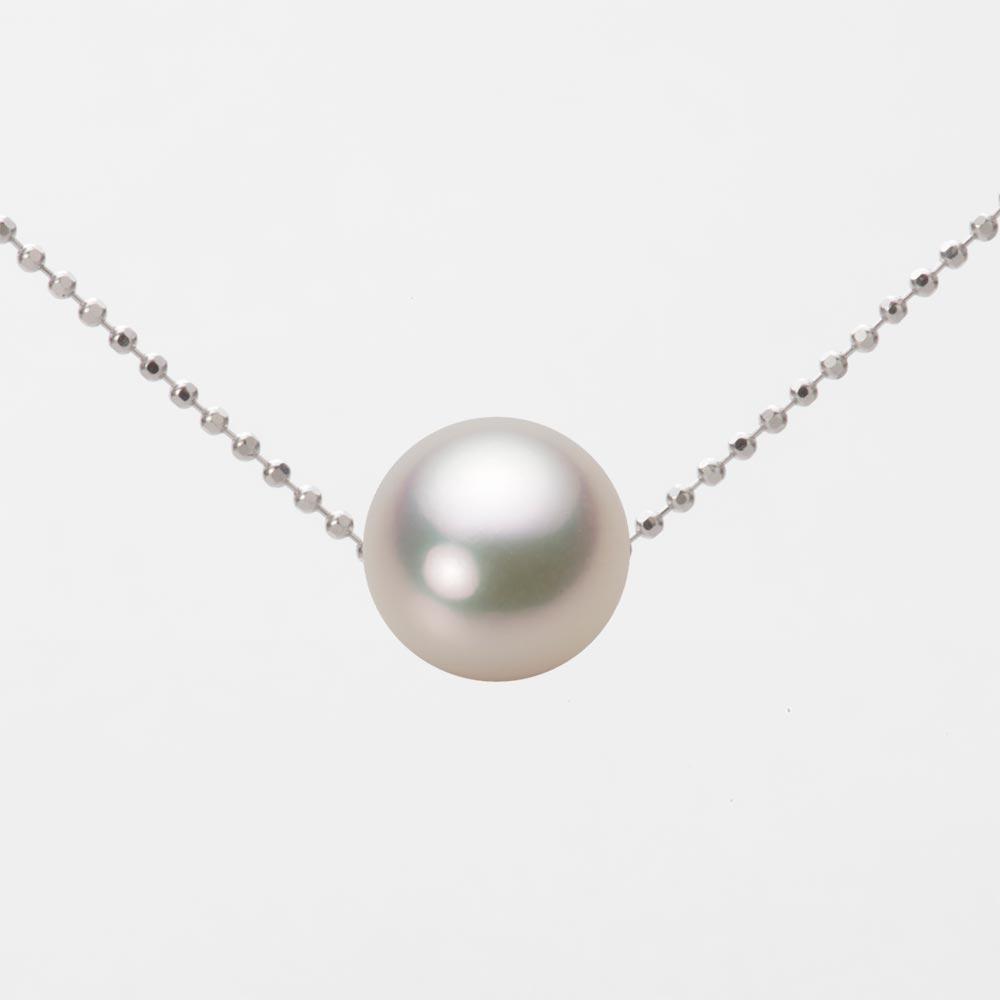 あこや真珠 パール ネックレス 9.0mm アコヤ 真珠 ペンダント K18WG ホワイトゴールド レディース HA00090R12CW0B01WS