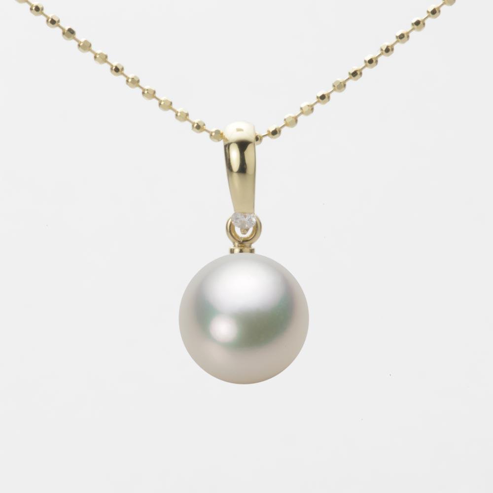 あこや真珠 パール ネックレス 9.0mm アコヤ 真珠 ペンダント K18 イエローゴールド レディース HA00090R12NW01500Y