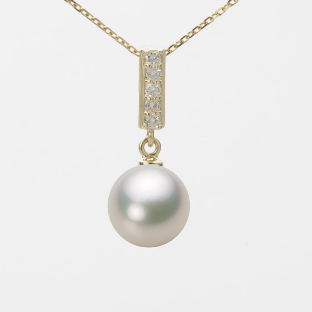 あこや真珠 パール ネックレス 9.0mm アコヤ 真珠 ペンダント K18 イエローゴールド レディース HA00090R12NW0314Y0