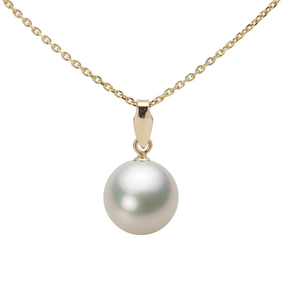 あこや真珠 パール ネックレス 9.0mm アコヤ 真珠 ペンダント K18 イエローゴールド レディース HA00090R12NW0U5Y00