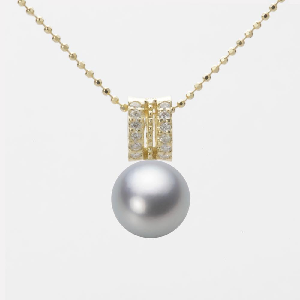 あこや真珠 パール ペンダント トップ 9.0mm アコヤ 真珠 ペンダント トップ K18 イエローゴールド レディース HA00090R12SG01278Y-T