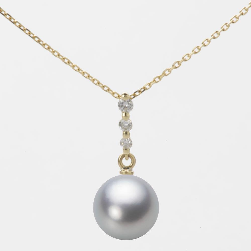 あこや真珠 パール ペンダント トップ 9.0mm アコヤ 真珠 ペンダント トップ K18 イエローゴールド レディース HA00090R12SG0797Y0-T