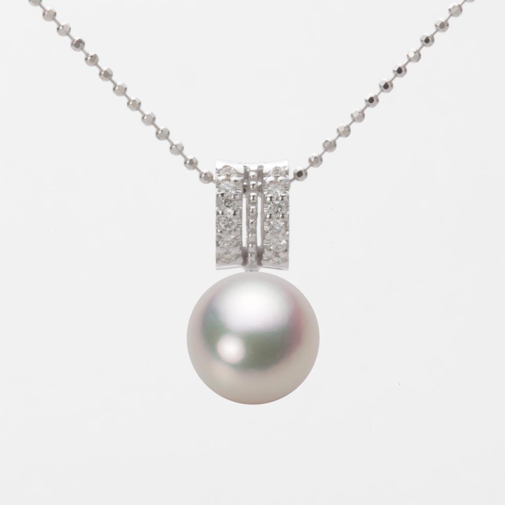 あこや真珠 パール ペンダント トップ 9.0mm アコヤ 真珠 ペンダント トップ K18WG ホワイトゴールド レディース HA00090R12WPG1278W-T