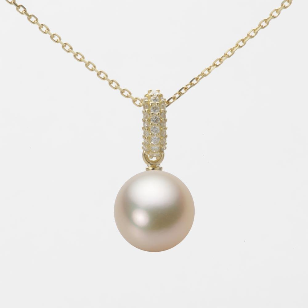 あこや真珠 パール ネックレス 9.0mm アコヤ 真珠 ペンダント K18 イエローゴールド レディース HA00090R13CG01489Y