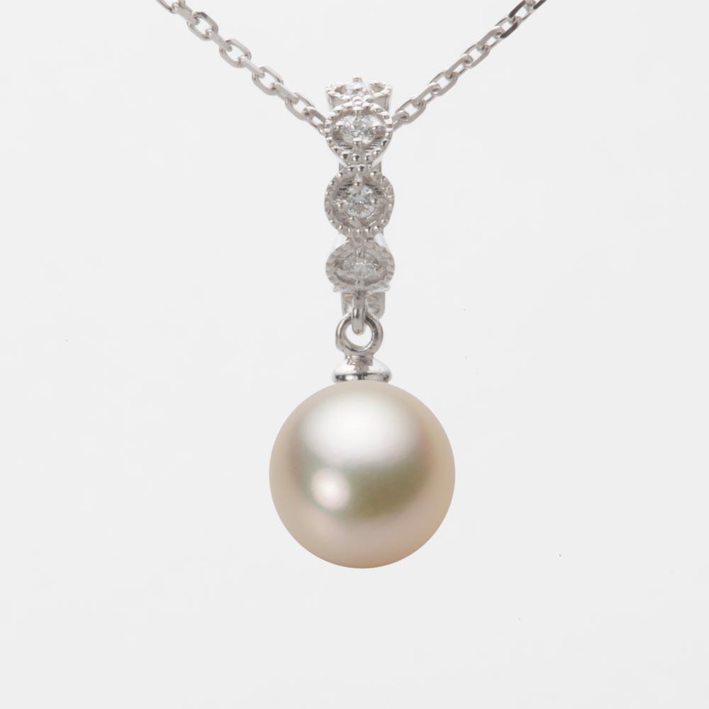 あこや真珠 パール ネックレス 9.0mm アコヤ 真珠 ペンダント K18WG ホワイトゴールド レディース HA00090R13CG0290W0