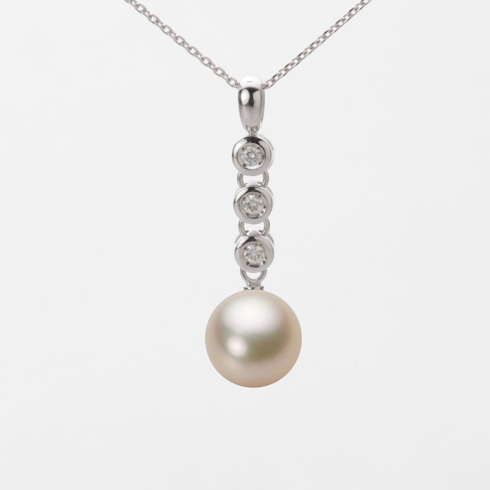 あこや真珠 パール ネックレス 9.0mm アコヤ 真珠 ペンダント K18WG ホワイトゴールド レディース HA00090R13CG0789W0