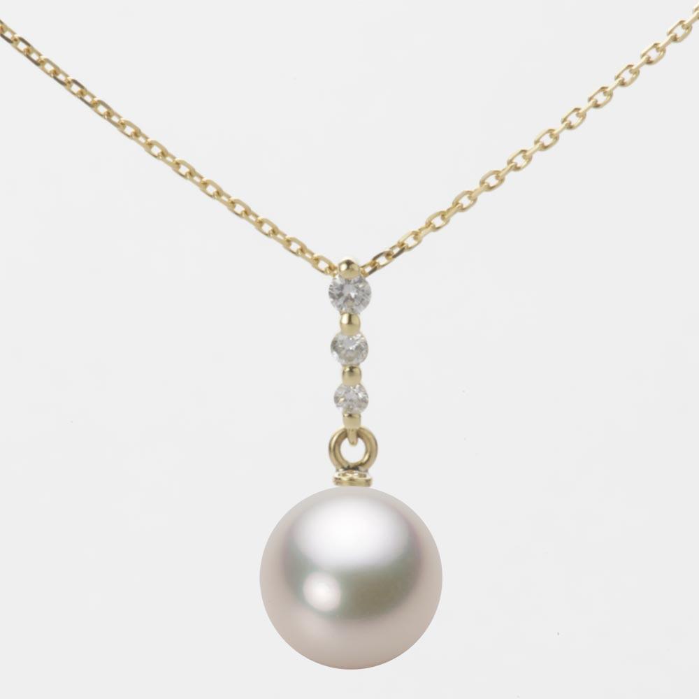 あこや真珠 パール ペンダント トップ 9.0mm アコヤ 真珠 ペンダント トップ K18 イエローゴールド レディース HA00090R13CW0797Y0-T