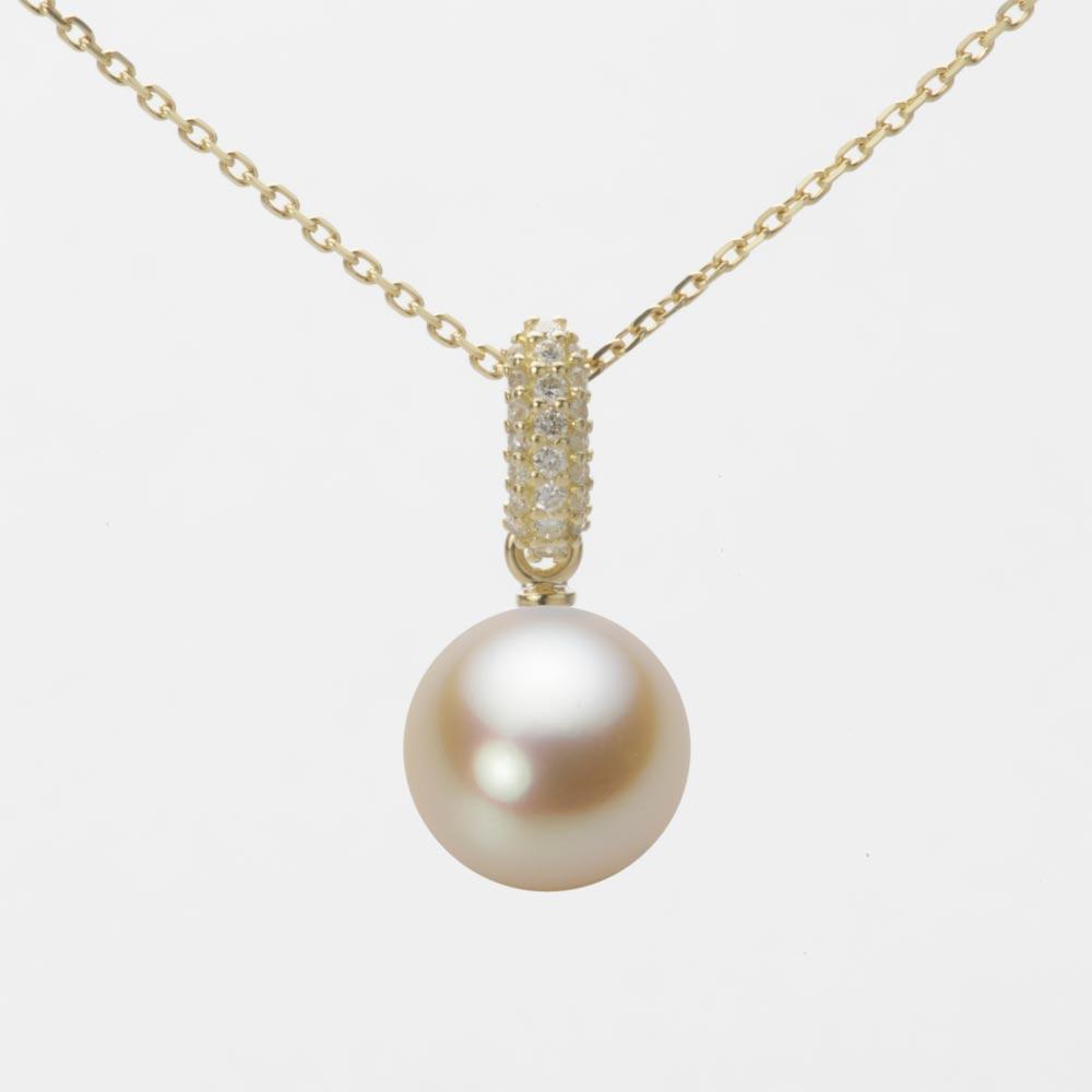 あこや真珠 パール ネックレス 9.0mm アコヤ 真珠 ペンダント K18 イエローゴールド レディース HA00090R13NG01489Y