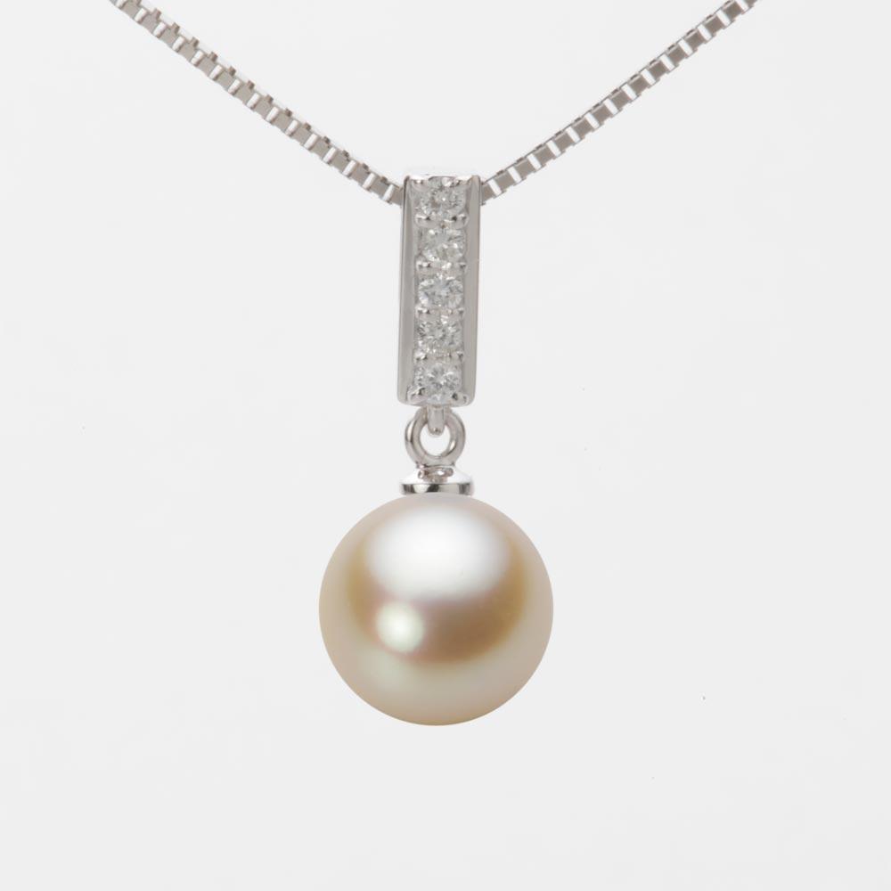 あこや真珠 パール ペンダント トップ 9.0mm アコヤ 真珠 ペンダント トップ K18WG ホワイトゴールド レディース HA00090R13NG0314W0-T