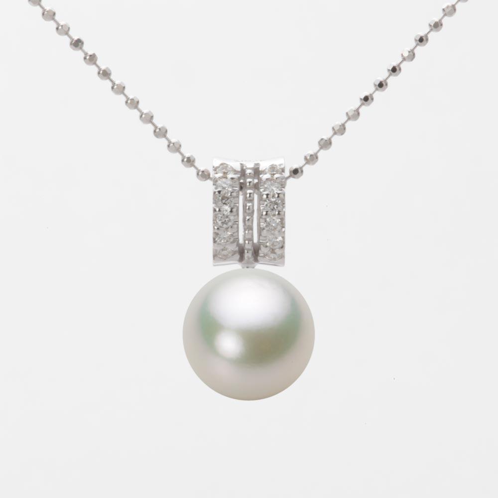 あこや真珠 パール ネックレス 9.0mm アコヤ 真珠 ペンダント K18WG ホワイトゴールド レディース HA00090R13NW01278W
