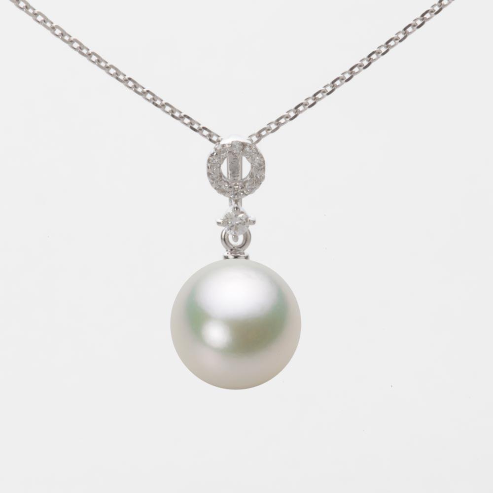あこや真珠 パール ネックレス 9.0mm アコヤ 真珠 ペンダント K18WG ホワイトゴールド レディース HA00090R13NW01474W