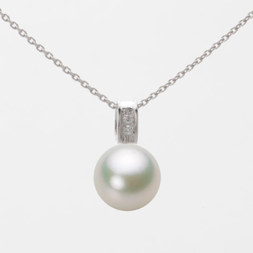 あこや真珠 パール ペンダント トップ 9.0mm アコヤ 真珠 ペンダント トップ K18WG ホワイトゴールド レディース HA00090R13NW0647W0-T